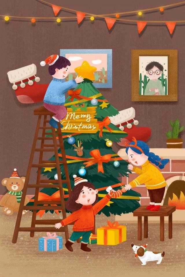 クリスマスクリスマスツリークリスマスの文字 イラスト素材 イラスト画像