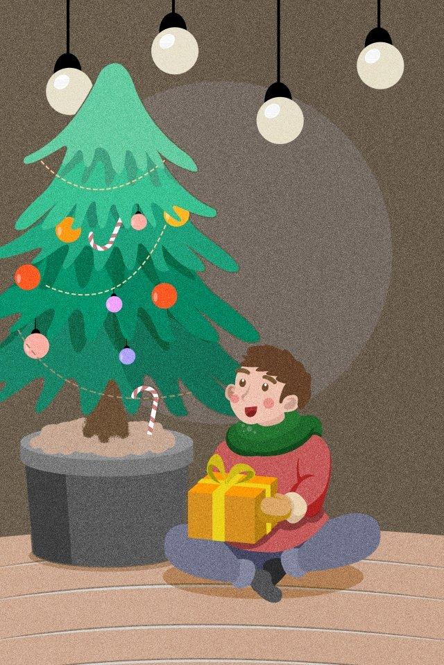 크리스마스 크리스마스 트리 크리스마스 이브 선물 삽화 소재 삽화 이미지