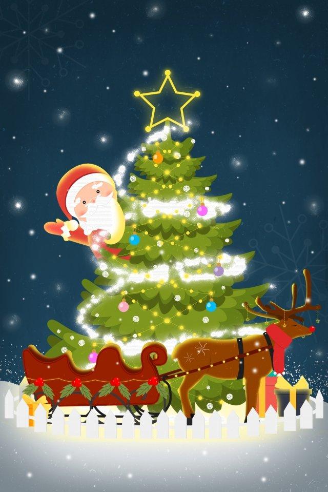 クリスマスクリスマスツリーギフト用の柵 イラスト素材