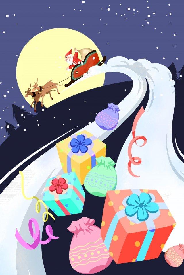 عيد الميلاد سانتا كلوز هدية مواد الصور المدرجة