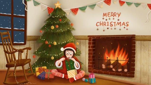 هدية عيد الميلاد ندفة الثلج شجرة عيد الميلاد مواد الصور المدرجة الصور المدرجة