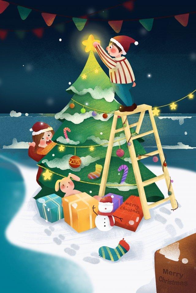 topi christmas christmas tree decoration christmas night imej keterlaluan