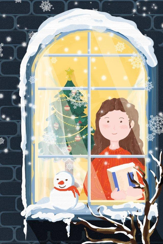 크리스마스 밤 크리스마스 크리스마스 이브 웨스트 삽화 소재 삽화 이미지