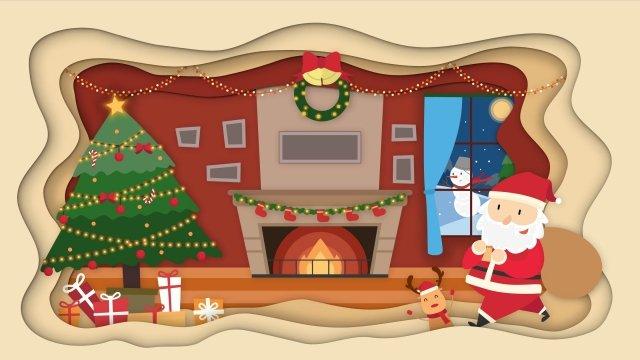 عيد الميلاد سانتا كلوز هدايا عيد الميلاد شجرة عيد الميلاد مواد الصور المدرجة