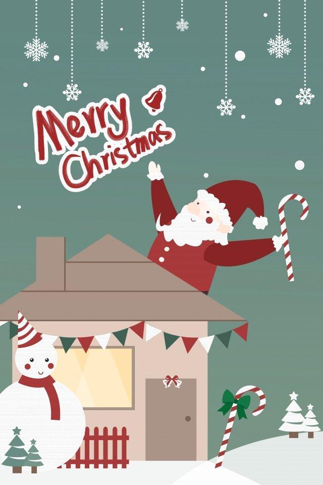 クリスマスサンタクロースクリスマス雪だるま イラスト画像