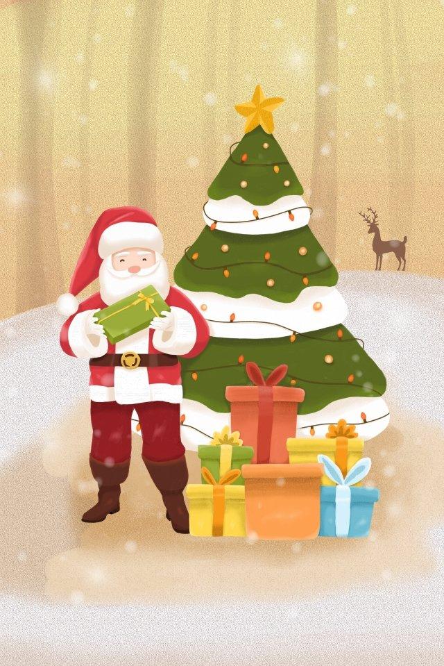 عيد الميلاد سانتا كلوز شجرة عيد الميلاد هدايا عيد الميلاد مواد الصور المدرجة