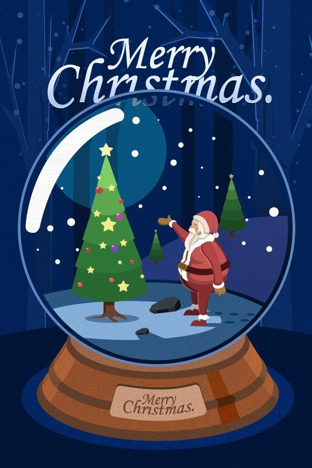 рождество санта клаус подарок рождественская елка Ресурсы иллюстрации