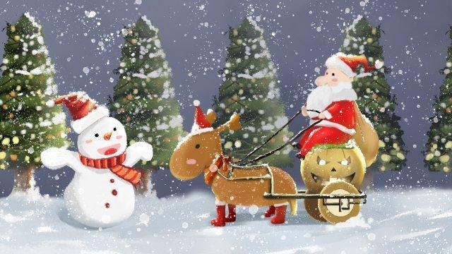 عيد الميلاد سانتا كلوز الرنة اليقطين سيارة مواد الصور المدرجة الصور المدرجة