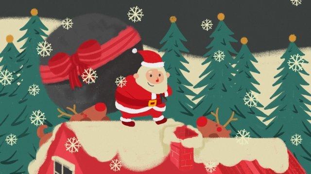 عيد الميلاد سانتا كلوز وشاح الشتاء مواد الصور المدرجة