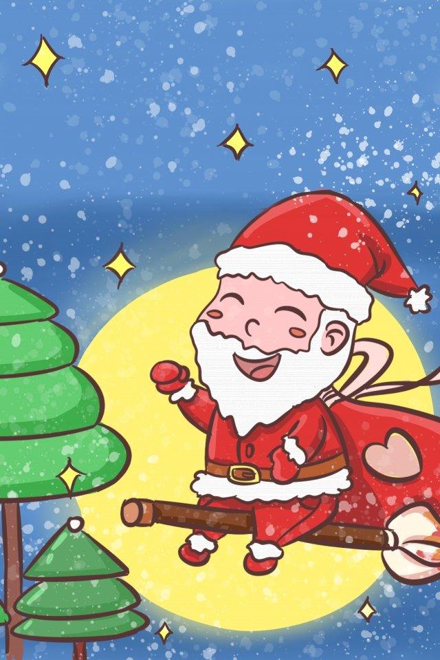 giáng sinh santa claus gửi một nền quà tặng Hình minh họa