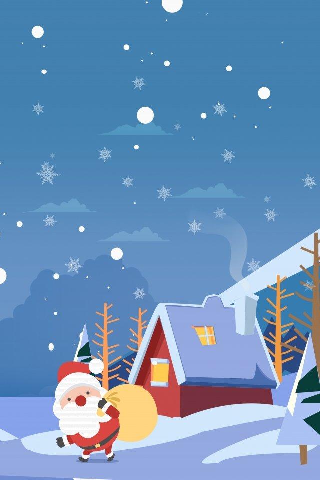 giáng sinh santa claus gửi một món quà tuyết Hình minh họa Hình minh họa
