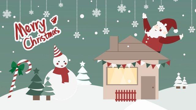 عيد الميلاد سانتا كلوز ثلج المقصورة مواد الصور المدرجة الصور المدرجة
