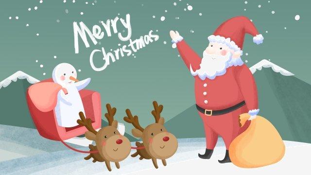 عيد الميلاد سانتا كلوز ثلج الرنة مواد الصور المدرجة