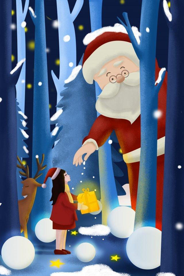 عيد الميلاد الثلج يتساقط سانتا كلوز هدية مواد الصور المدرجة