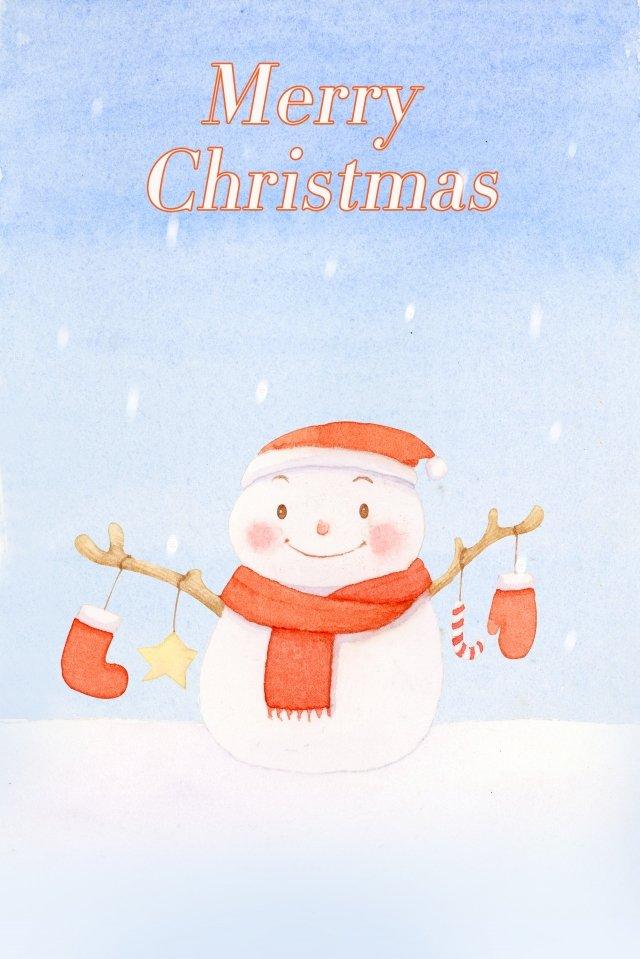 クリスマス雪だるま美しいお祭り イラスト素材