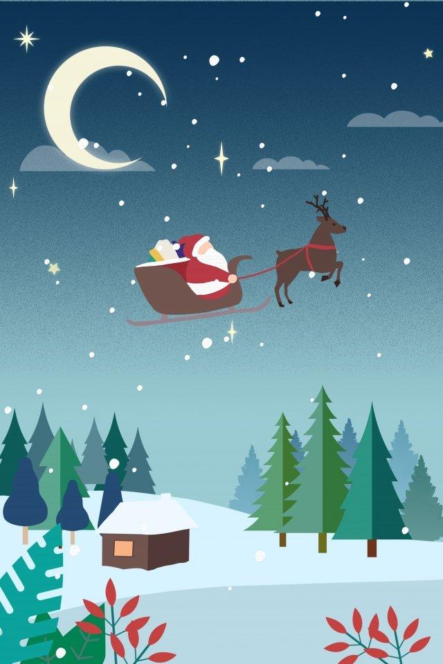 عيد الميلاد الشتاء الأيائل سانتا كلوز مواد الصور المدرجة