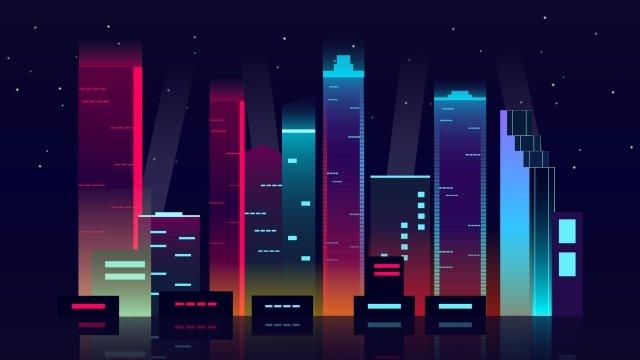 xây dựng thành phố đêm Hình minh họa