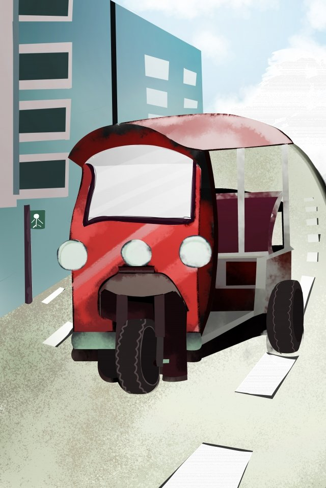 city building street side road illustration image