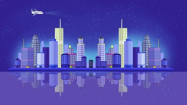 город ночная сцена город синий городской Ресурсы иллюстрации