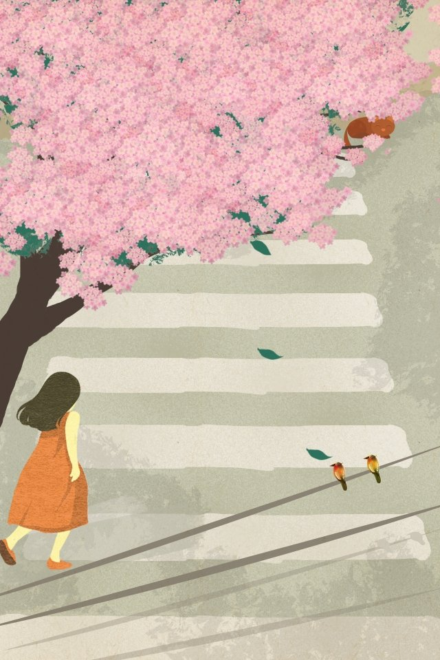 도시가 내려다 보이는 삶의 길 삽화 소재