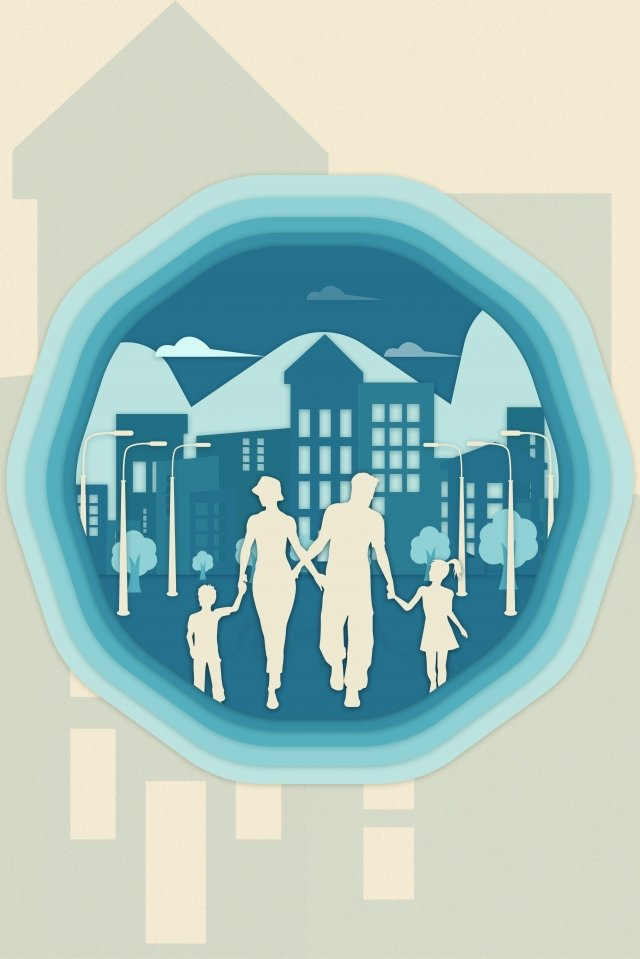 city society environmental protection green, Simple, Family, Big City illustration image
