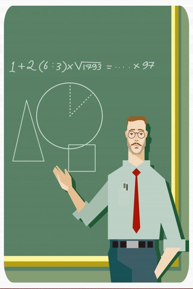 数学を教えるクラススクール イラスト素材