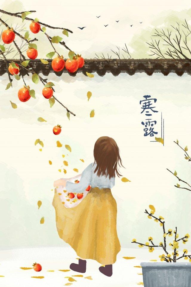 sương lạnh mùa thu cô bé hồng Hình minh họa Hình minh họa