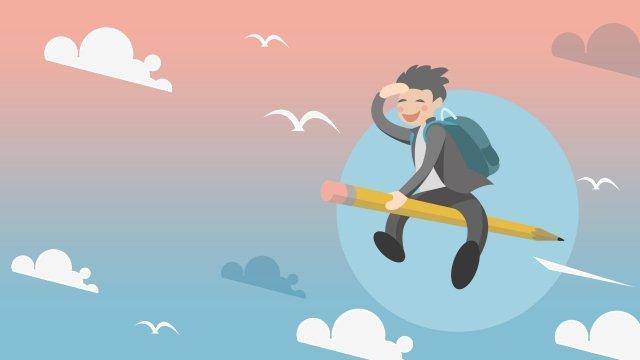 college entrance examination boy sprint come on llustration image illustration image