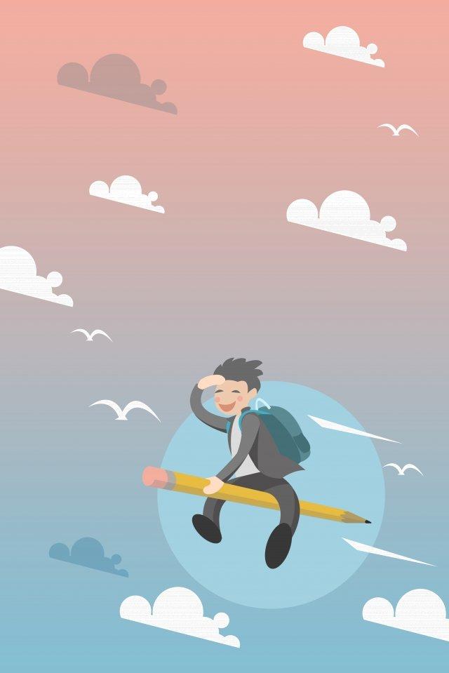 exame de entrada da faculdade menino sprint venha Imagens de ilustração