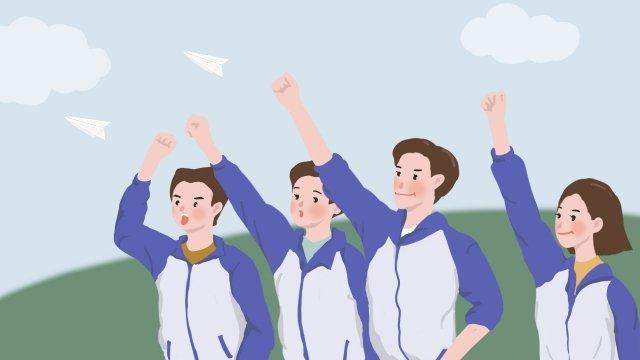 大学入試高校生が奮闘中 イラスト素材 イラスト画像