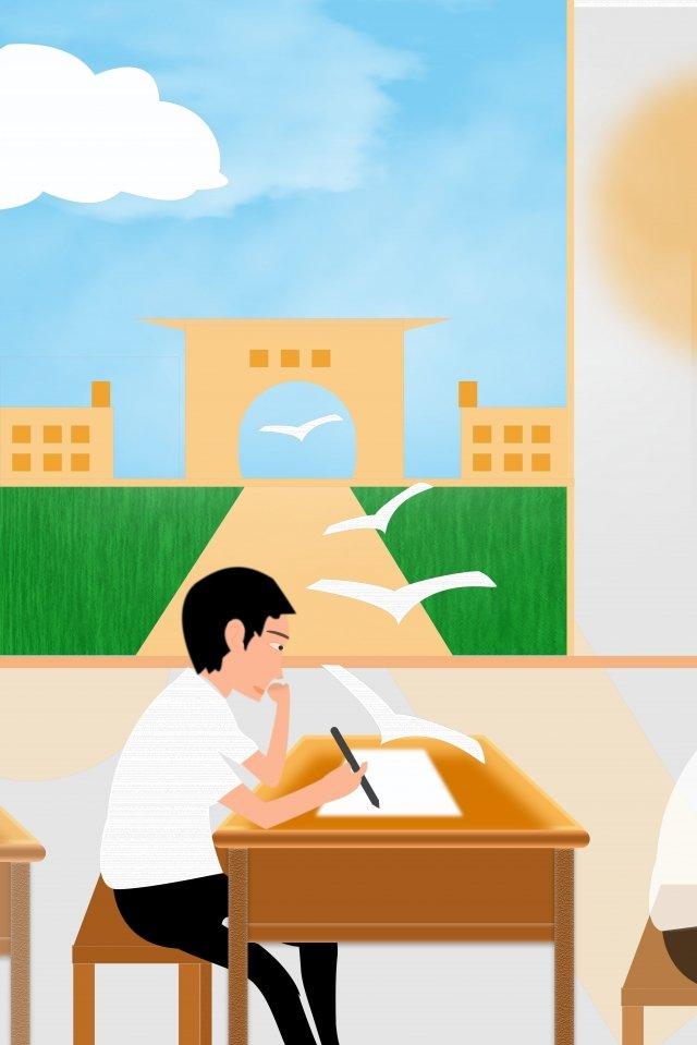 college entrance examination the university dream flying pigeon, Candidate, Desk, Notice illustration image