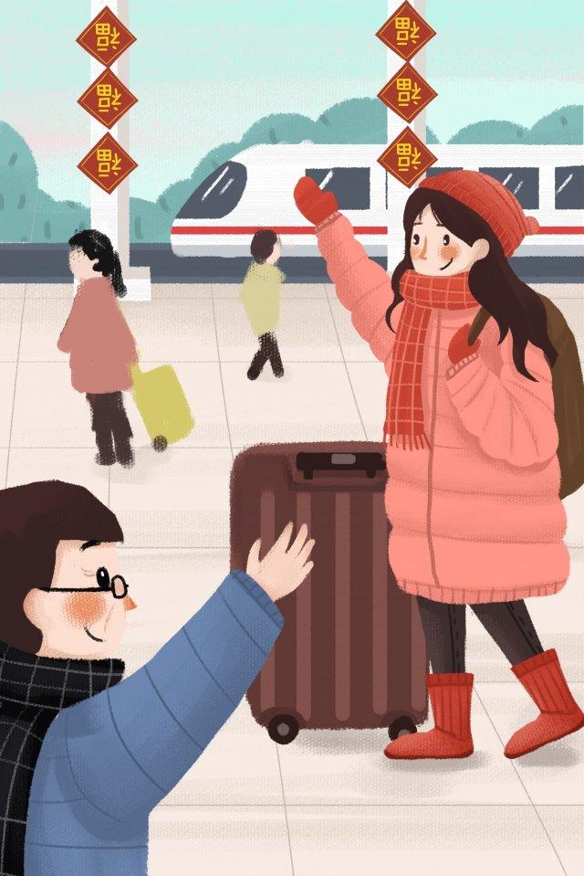 kỳ nghỉ sinh viên đại học trở về nhà đi tàu Hình minh họa