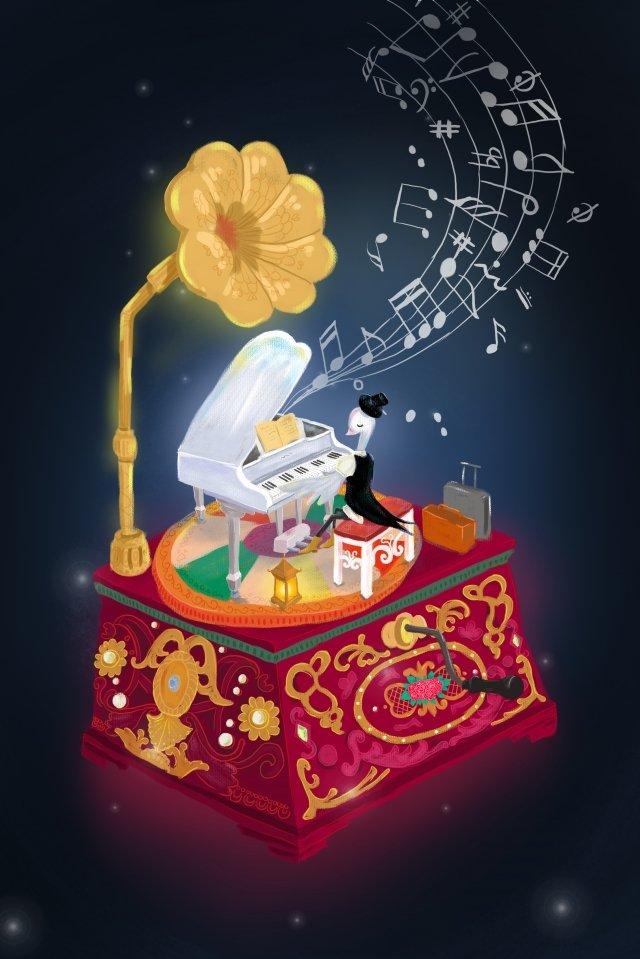 कंसर्ट पियानो पियानो गाते हैं चित्रण छवि चित्रण छवि