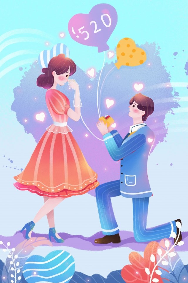 confession beautiful propose valentines day, Lover, Couple, Send Ring illustration image