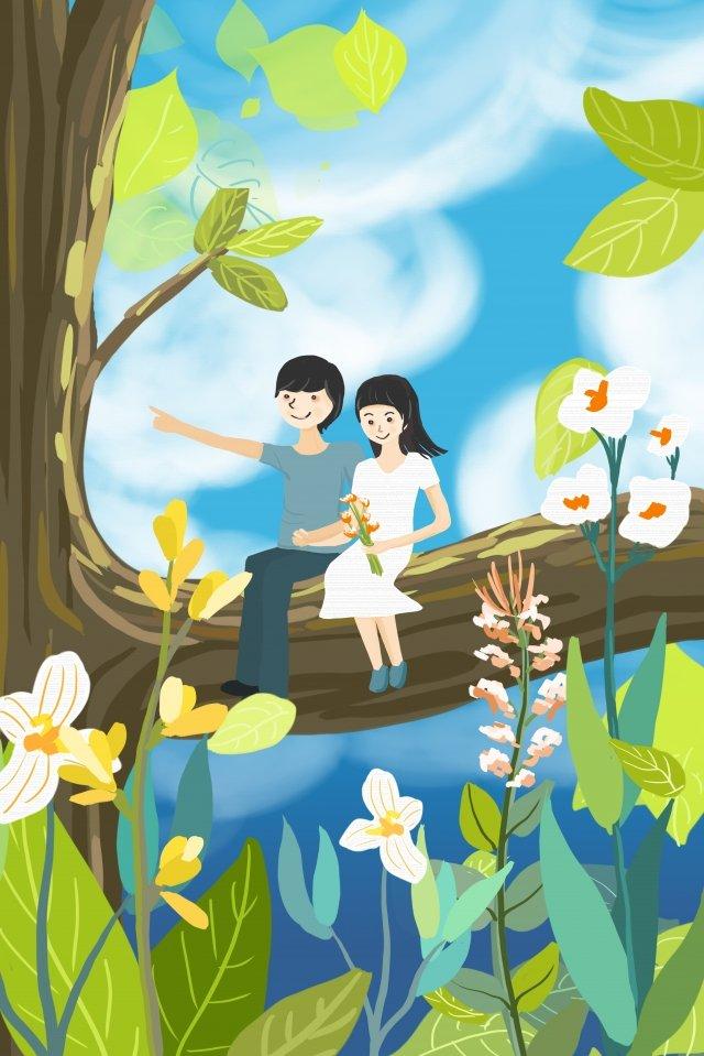 couple breath valentines day boy illustration image
