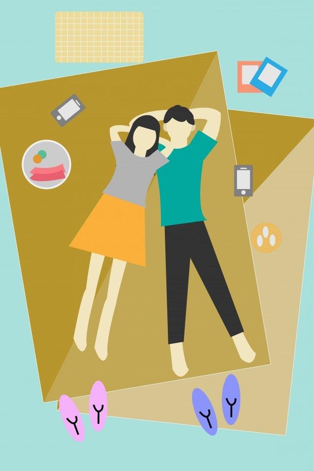 カップルカップル屋外旅行旅行 イラスト素材
