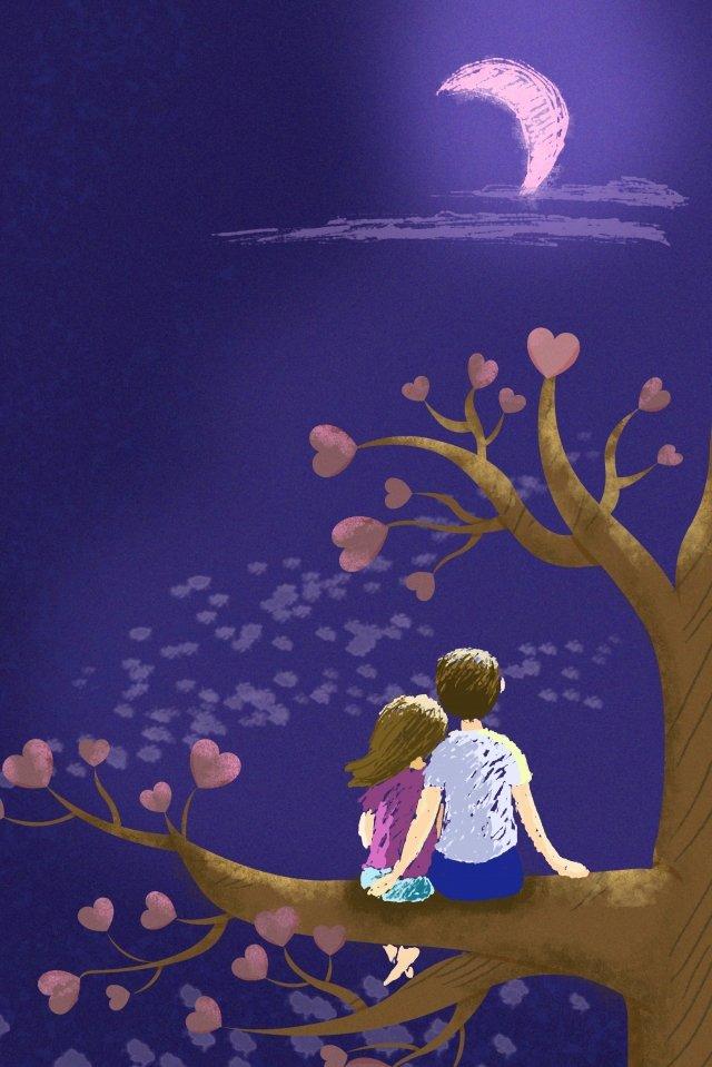 cặp đôi tình yêu cây trăng 520 Hình minh họa Hình minh họa
