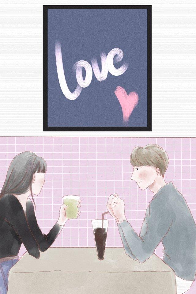cặp đôi tanabata uống tình yêu Hình minh họa