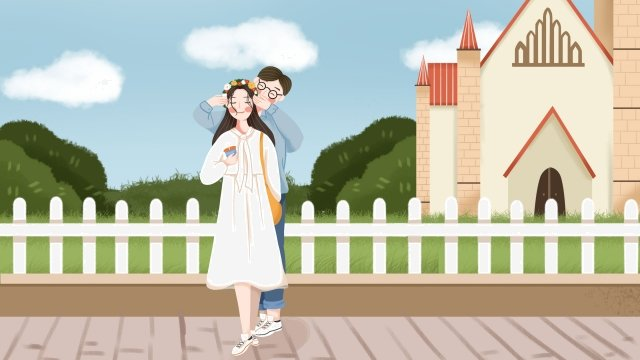 couple travel national day national day llustration image