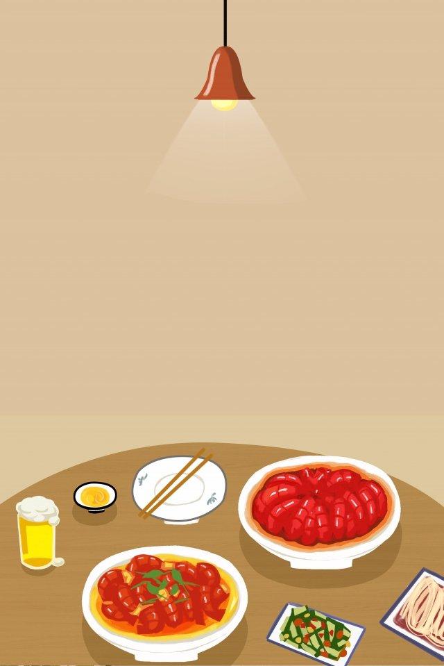 왕새우 매운 새우 음식 삽화 소재