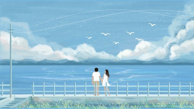 cure healing japanese japanese style, Beautiful, Beautiful And Fresh, Couple illustration image