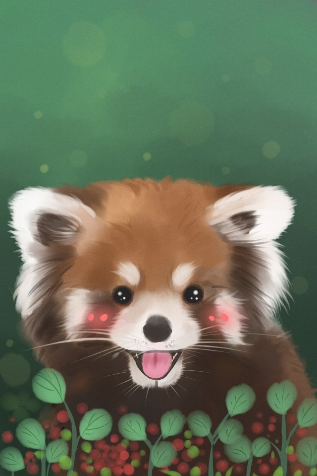 cute pet animal little panda moe llustration image