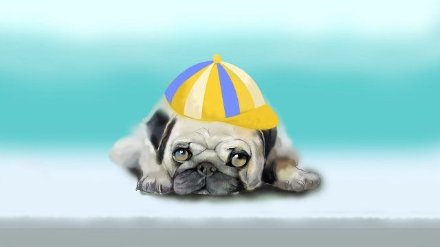 cute pet lovely starling puppy, Hand Painted, Realistic, Cute Pet illustration image