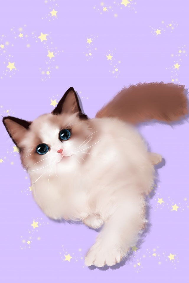 chat en peluche image d'illustration