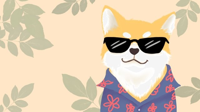 cute pet shiba inu dog animal, Sunglasses, Pet, Cute Pet illustration image