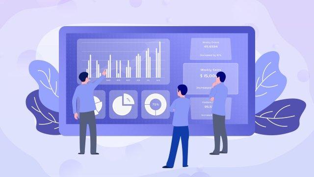 データ分析事業所図 イラスト素材
