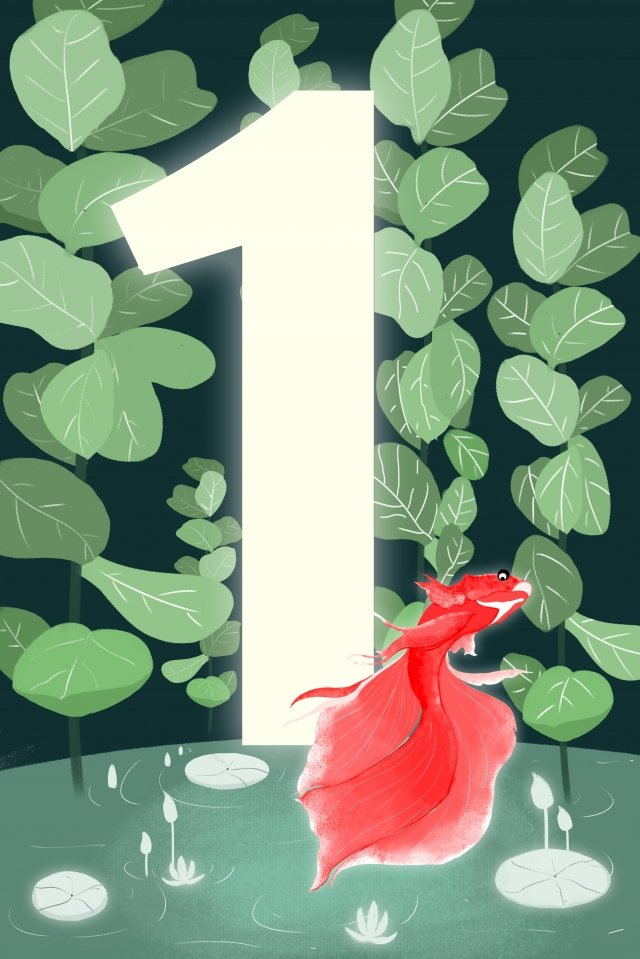 digital 1 countdown hand painted, Illustration, Digital, 1 illustration image