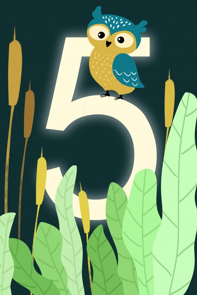 digital 5 countdown hand painted, Illustration, Digital, 5 illustration image