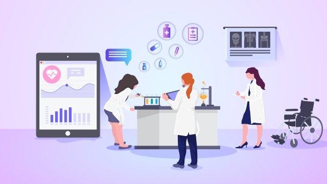 lekarze technologii medycznych badania obraz llustration