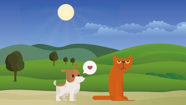 собака кошка любовь животное Ресурсы иллюстрации Иллюстрация изображения
